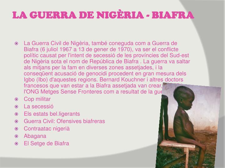 LA GUERRA DE NIGÈRIA - BIAFRA