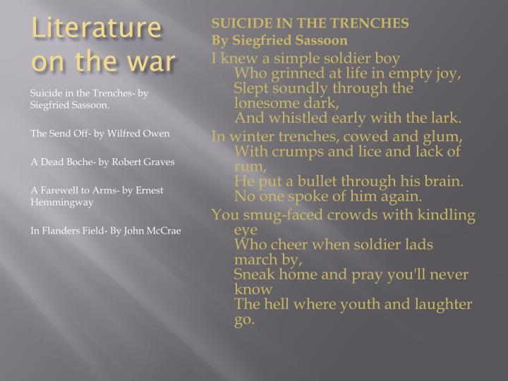 Literature on the war