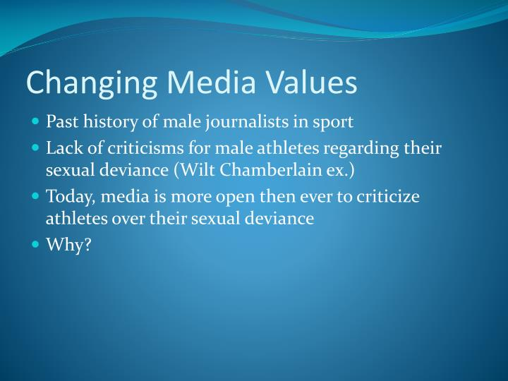 Changing Media Values