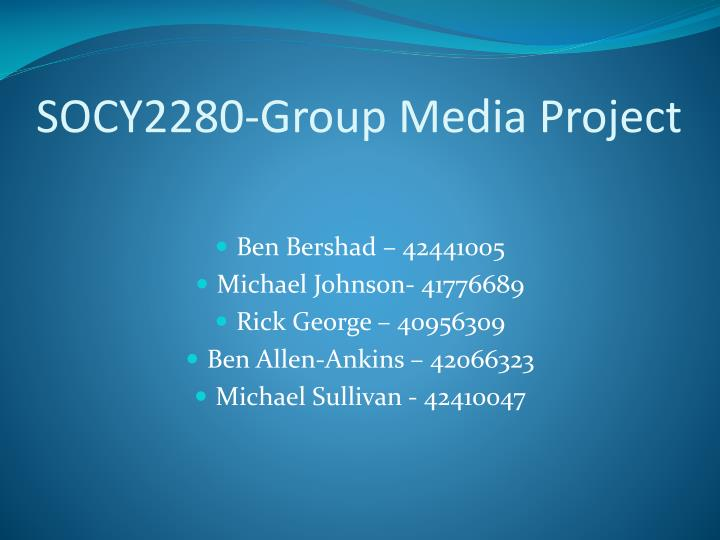 socy2280 group media project