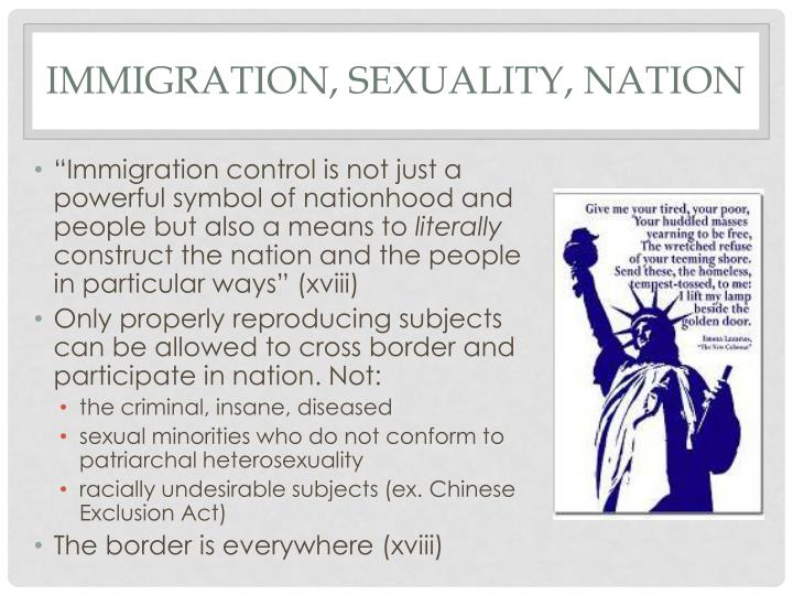 Immigration, sexuality, nation