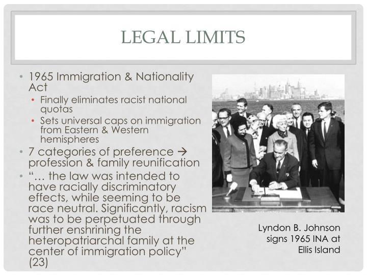 Legal limits