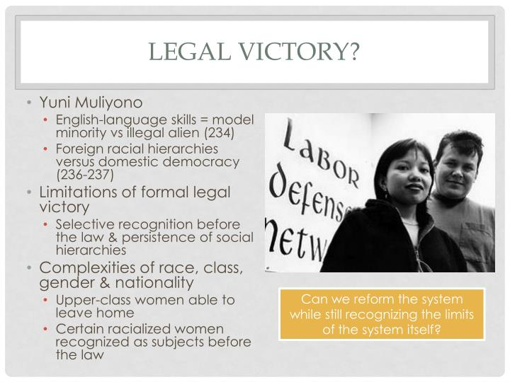 Legal victory?