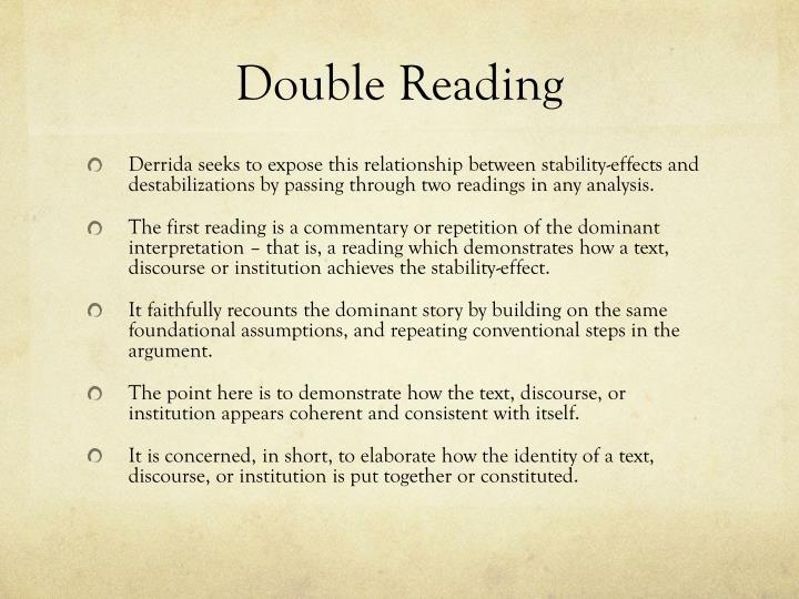 Double Reading