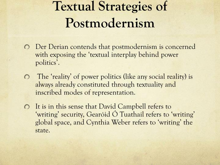Textual Strategies