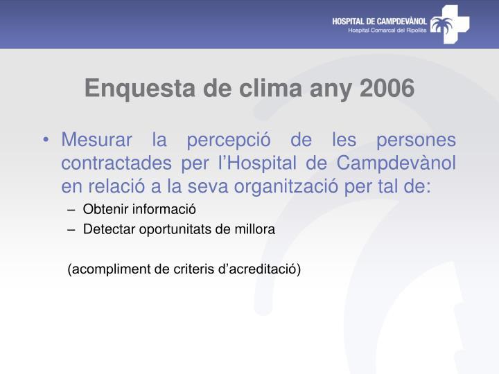Enquesta de clima any 2006