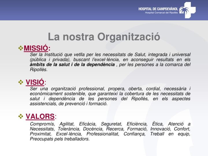 La nostra Organització