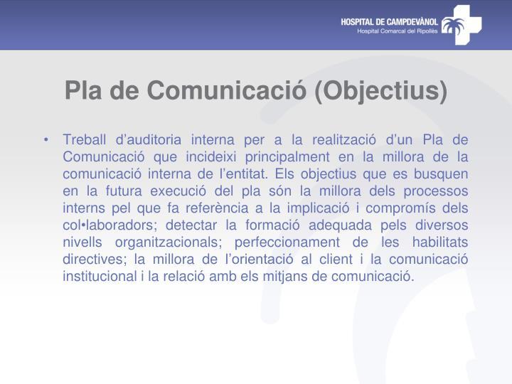 Pla de Comunicació (Objectius)
