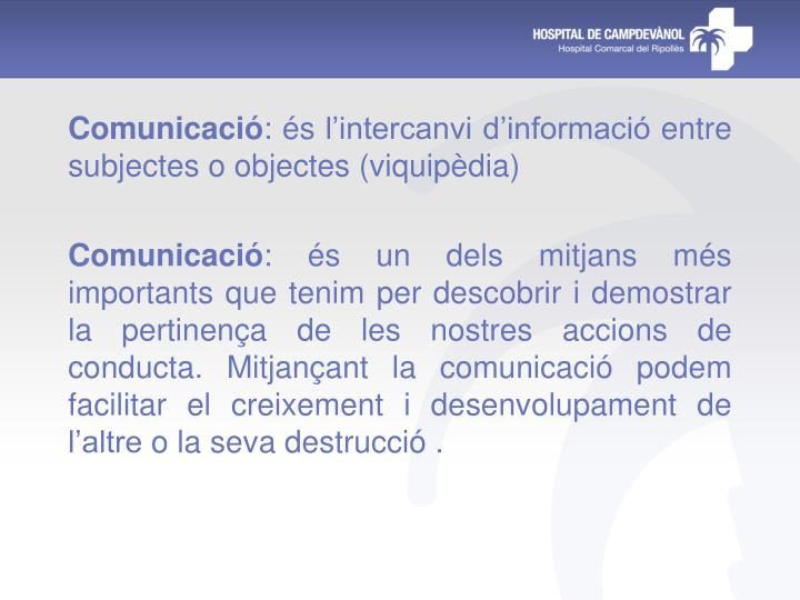 Comunicació