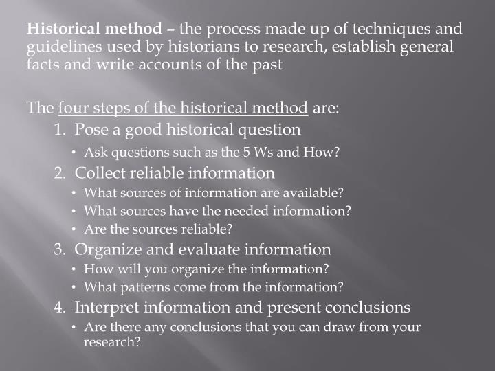 Historical method –