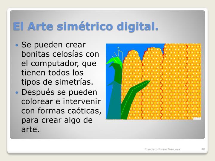 El Arte simétrico digital.