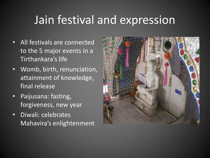 Jain festival and expression