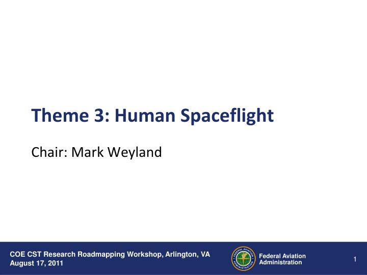 Theme 3 human spaceflight