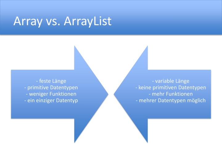 Array vs.