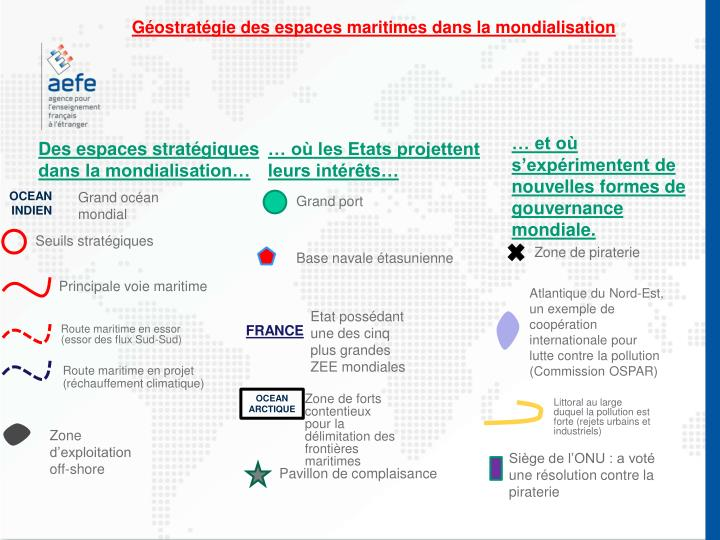 Géostratégie des espaces maritimes dans la mondialisation