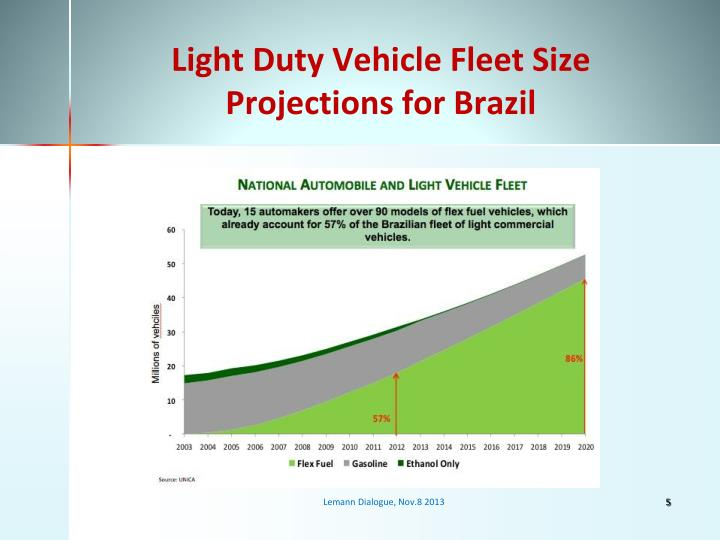 Light Duty Vehicle Fleet Size Projections for Brazil