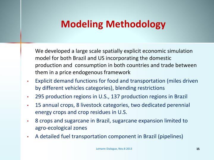 Modeling Methodology
