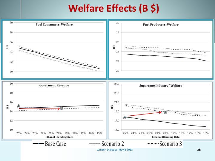 Welfare Effects (B $)