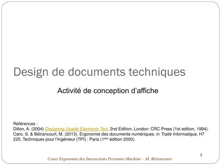 Design de documents techniques