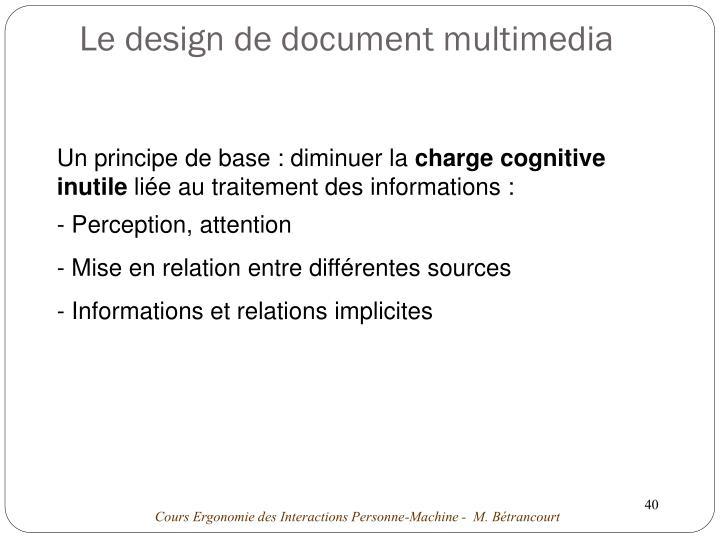 Le design de document multimedia