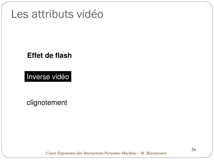 Les attributs vidéo