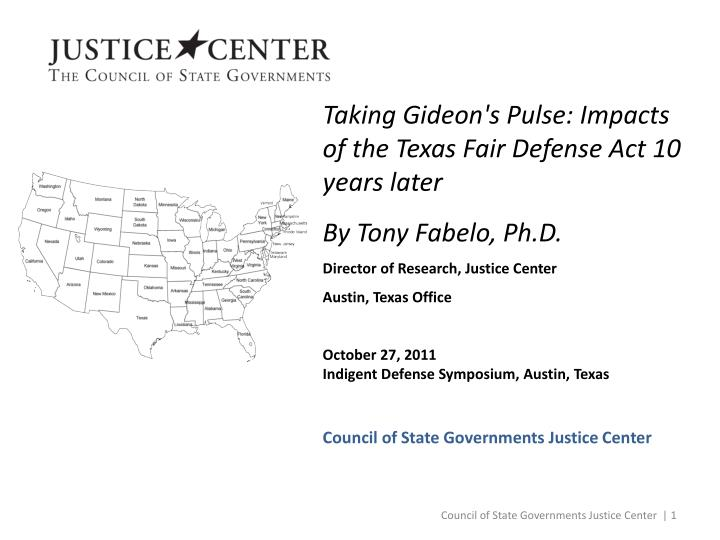 Taking Gideon's Pulse: Impacts of