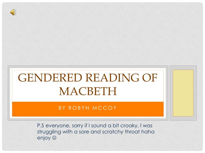 Gendered reading of macbeth