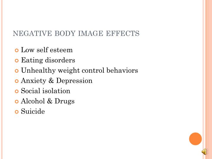 negative body image effects