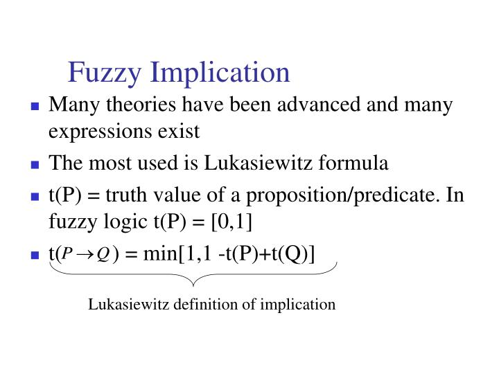 Fuzzy Implication