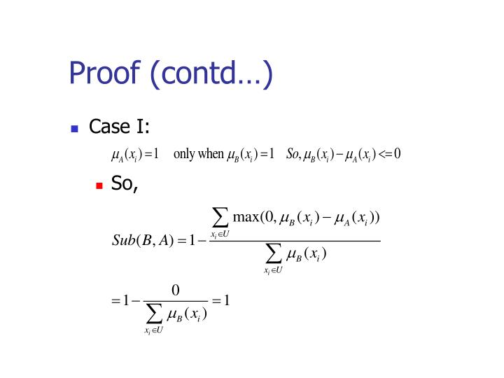 Proof (contd…)