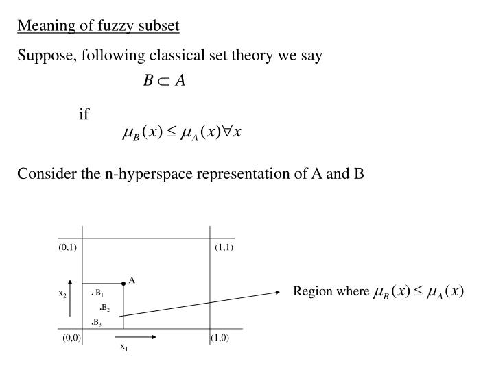 Meaning of fuzzy subset