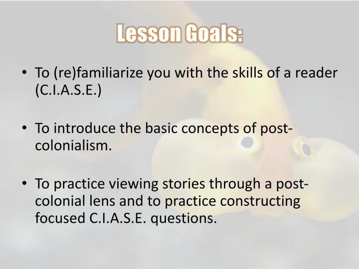 Lesson Goals: