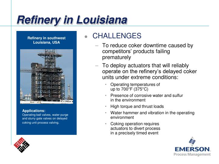 Refinery in Louisiana