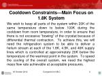 cooldown constraints main focus on 1 8k system