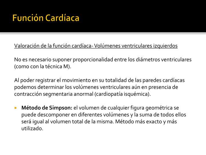 Función Cardíaca