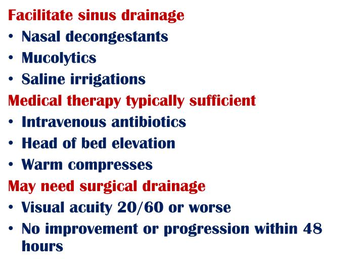 Facilitate sinus drainage