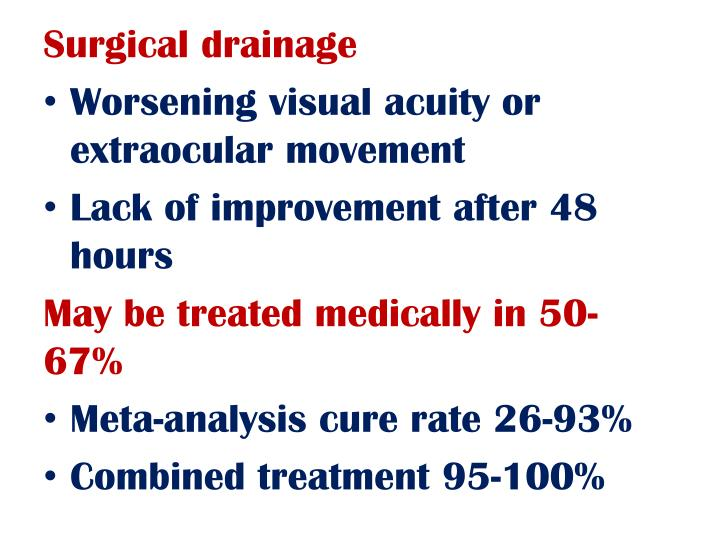 Surgical drainage