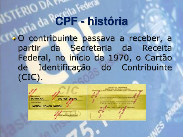 CPF - história
