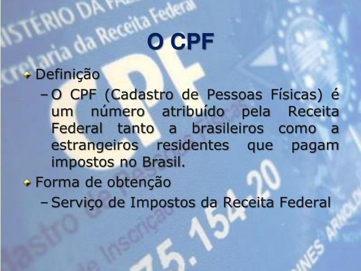 O CPF
