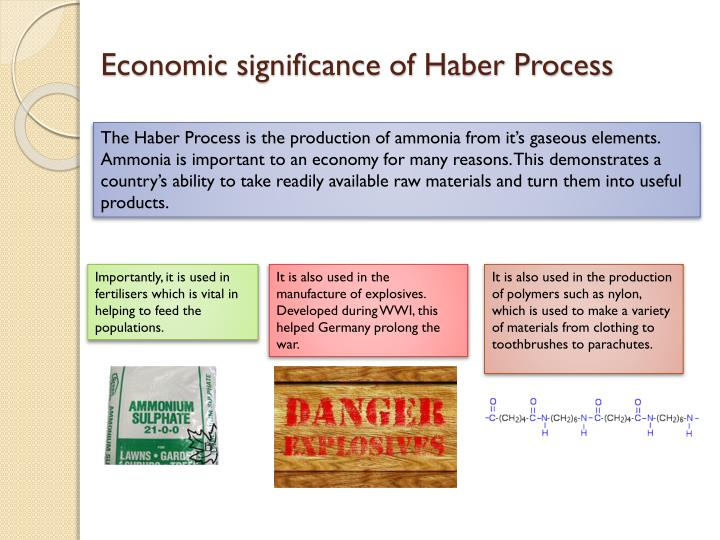 explaining the haber process The synthesis of ammonia - the haber process of you apply le chatelier's principle rules to the haber synthesis of ammonia explain why high pressure.