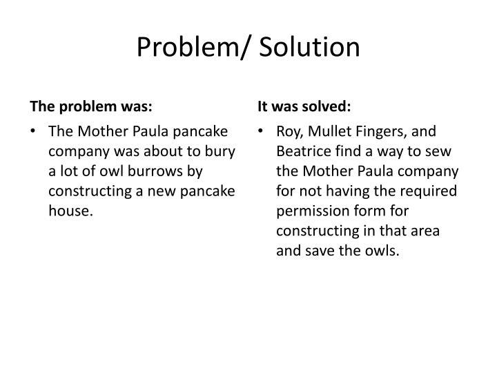 Problem/ Solution
