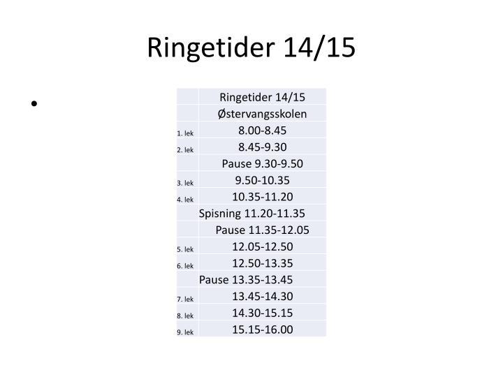 Ringetider 14/15