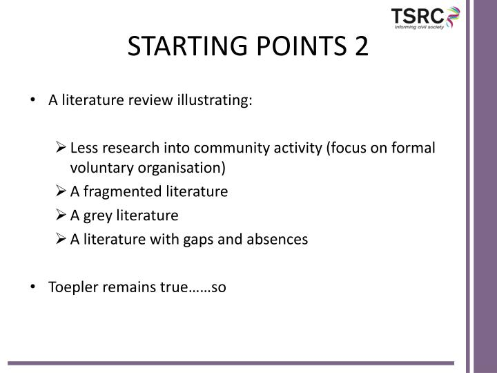 STARTING POINTS 2