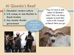 al qaeda s beef