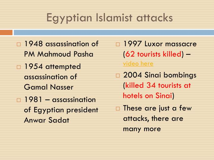 Egyptian Islamist attacks