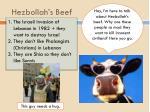 hezbollah s beef