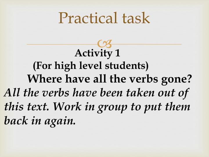 Practical task