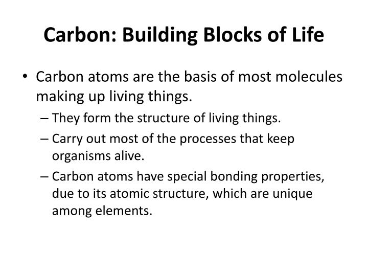 Carbon: Building Blocks of Life