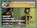 webb cisd parent meeting fostering dignity and respect