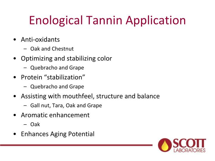 Enological Tannin Application